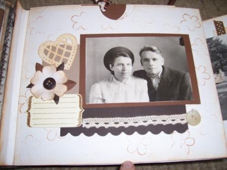 конверт для вкладыша (фото бабушки и дедушки)