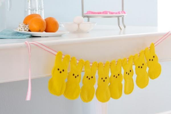 Жёлтые пасхальные яйца